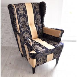 Fotel uszak w stylu Angielskim
