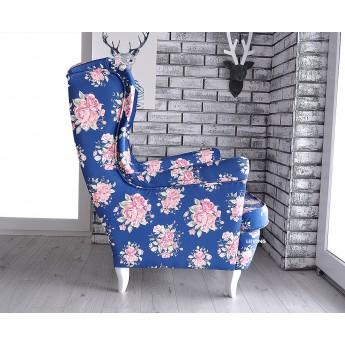 Fotel uszak w pięknych różach