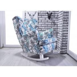 Fotel uszak bujany w kolorze BLUE PAPROĆ