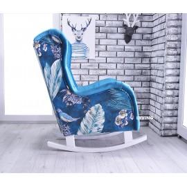 Fotel uszak SLIM na płozach w pięknych barwach