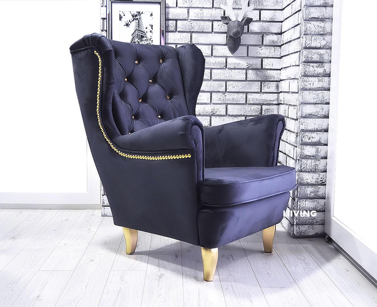 fotel złoty